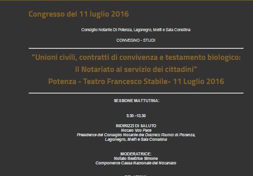 11 luglio, evento su unioni civili e testamento biologico