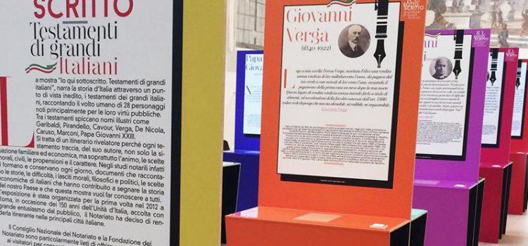 """Il Notariato vi invita a visitare la mostra """"IO QUI SOTTOSCRITTO. TESTAMENTI DI GRANDI ITALIANI"""""""