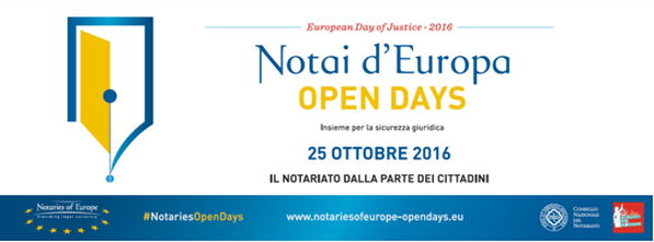 25 ottobre, Open Day dei Notai d'Europa