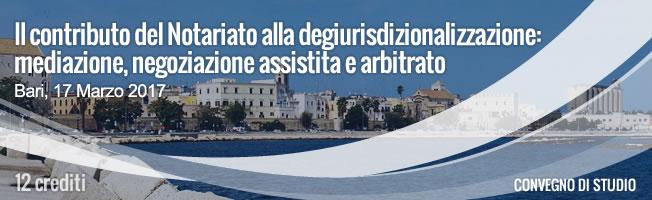 17 marzo, Evento della Fondazione del Notariato a Bari
